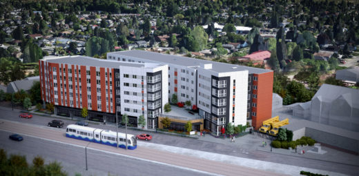 A rendering of Mercy Othello Plaza