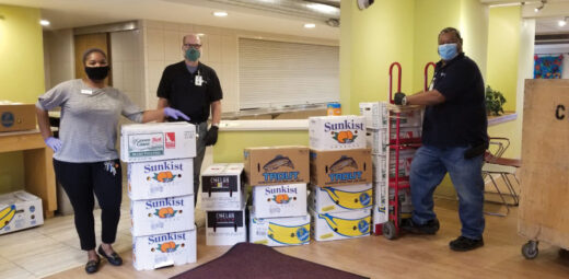 With the support of the Walmart Foundation, St. Catherine Residence partnered with the Women's Club of Wisconsin to provide 472 pre-packaged meals and with Jennaro Brothers to provide 1,700 pounds of fruit and vegetables.