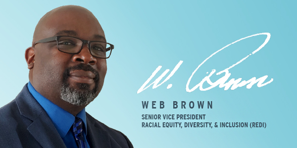 portrait of web brown svp of redi