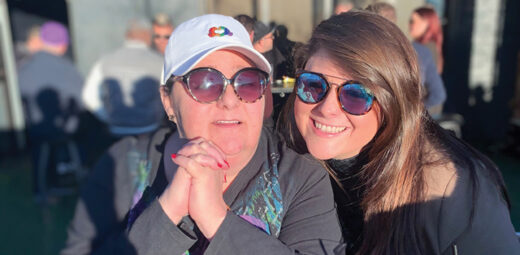 Patti (left) with her daughter in 2019.